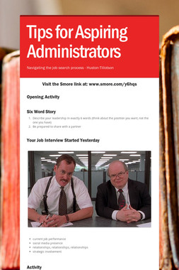 Tips for Aspiring Administrators