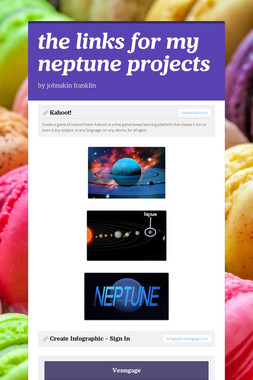 the links for my neptune projects