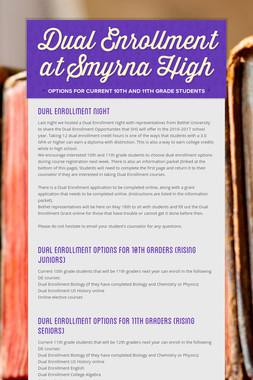 Dual Enrollment at Smyrna High