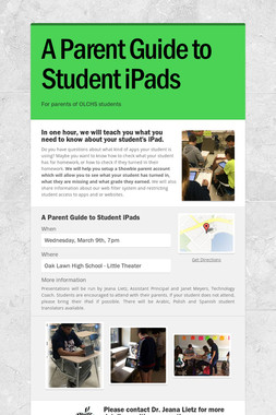A Parent Guide to Student iPads