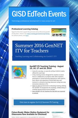 GISD EdTech Events