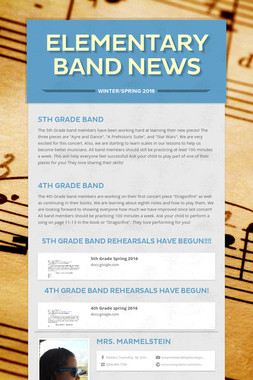 Elementary Band News