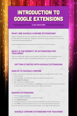 Introduction to Google Extensions