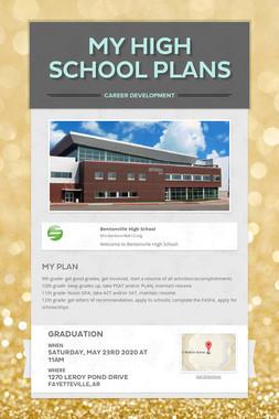 My High School Plans
