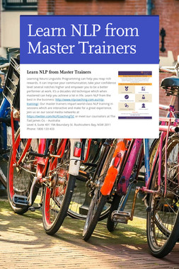 Learn NLP from Master Trainers