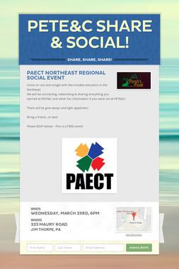 PETE&C Share & Social!
