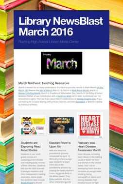 Library NewsBlast March  2016