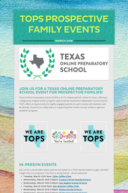 TOPS Prospective Family Events