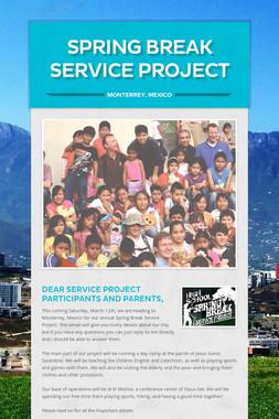 Spring Break Service Project