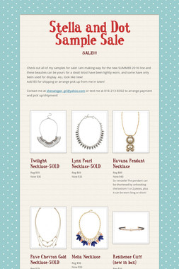 Stella and Dot Sample Sale