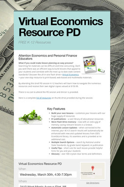 Virtual Economics Resource PD