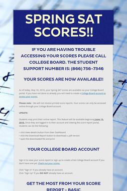 Spring SAT Scores!!