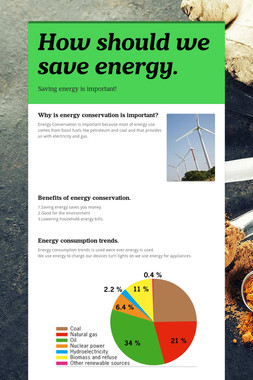 How should we save energy.