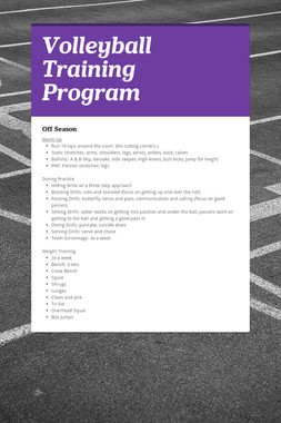 Volleyball Training Program
