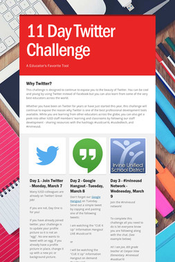 11 Day Twitter Challenge