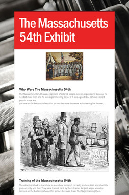 The Massachusetts 54th Exhibit