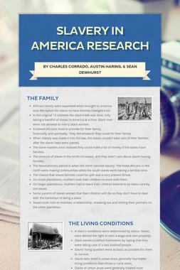 Slavery in America Research