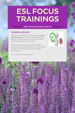 ESL Focus Trainings