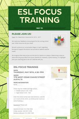 ESL Focus Training