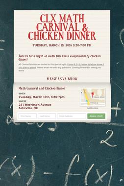 CLX MATH CARNIVAL & CHICKEN DINNER