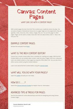 Canvas: Content Pages