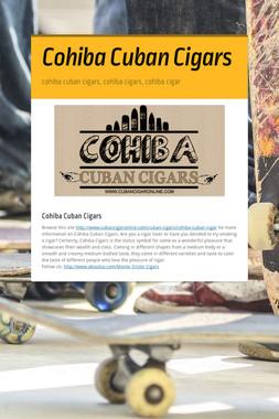 Cohiba Cuban Cigars
