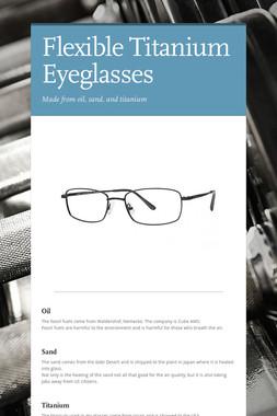 Flexible Titanium Eyeglasses