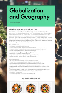 Globalization and Geography