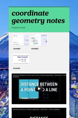 coordinate geometry notes