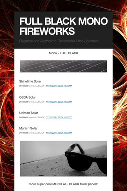 FULL BLACK MONO FIREWORKS