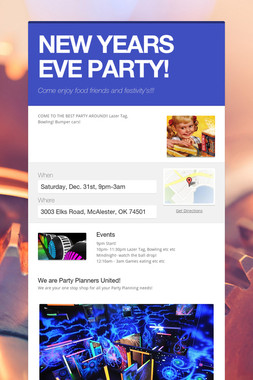 NEW YEARS EVE PARTY!