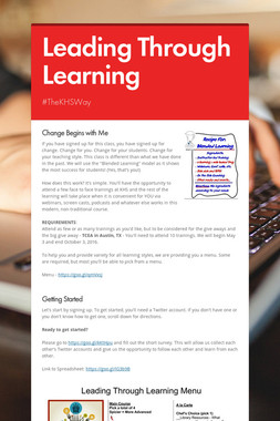 Leading Through Learning