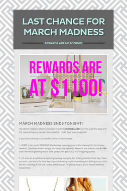 Last Chance for March Madness