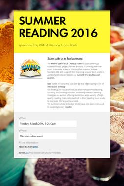 SUMMER READING 2016
