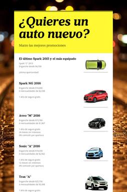 ¿Quieres un auto nuevo?