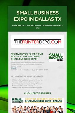 SMALL BUSINESS EXPO IN DALLAS TX