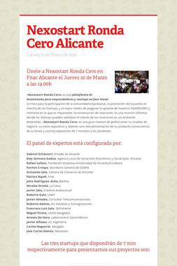 Nexostart Ronda Cero Alicante