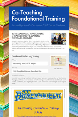 Co-Teaching Foundational Training