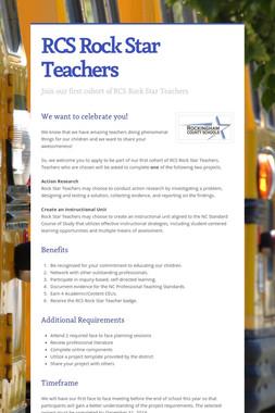 RCS Rock Star Teachers