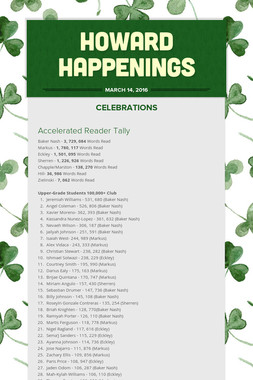 Howard Happenings