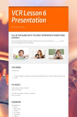 VCR Lesson 6 Presentation