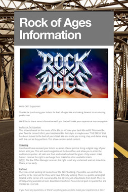 Rock of Ages Information