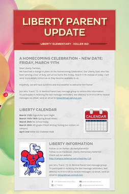 Liberty Parent Update