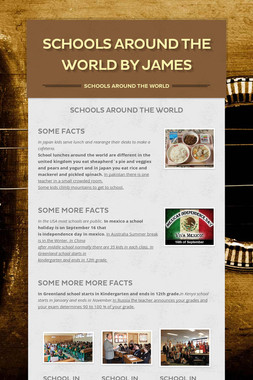schools around the world by JAMES