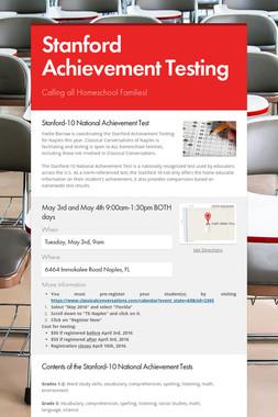 Stanford Achievement Testing