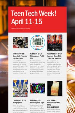 Teen Tech Week! April 11-15