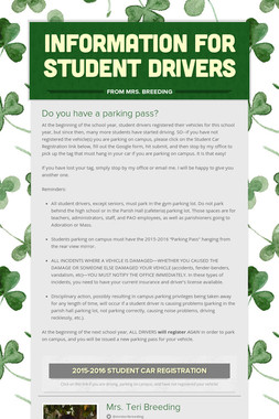 Information for Student Drivers