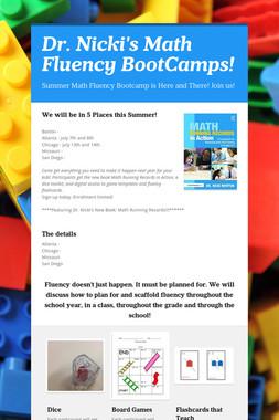 Dr. Nicki's Math Fluency BootCamps!