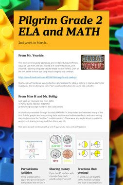 Pilgrim Grade 2 ELA and MATH