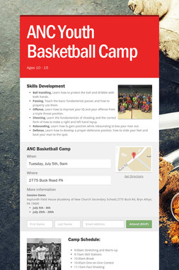 ANC Youth Basketball Camp